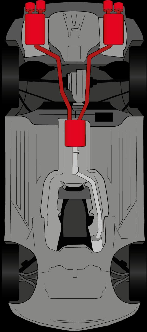 Spor Auspuff SLK171 4 Zylinder