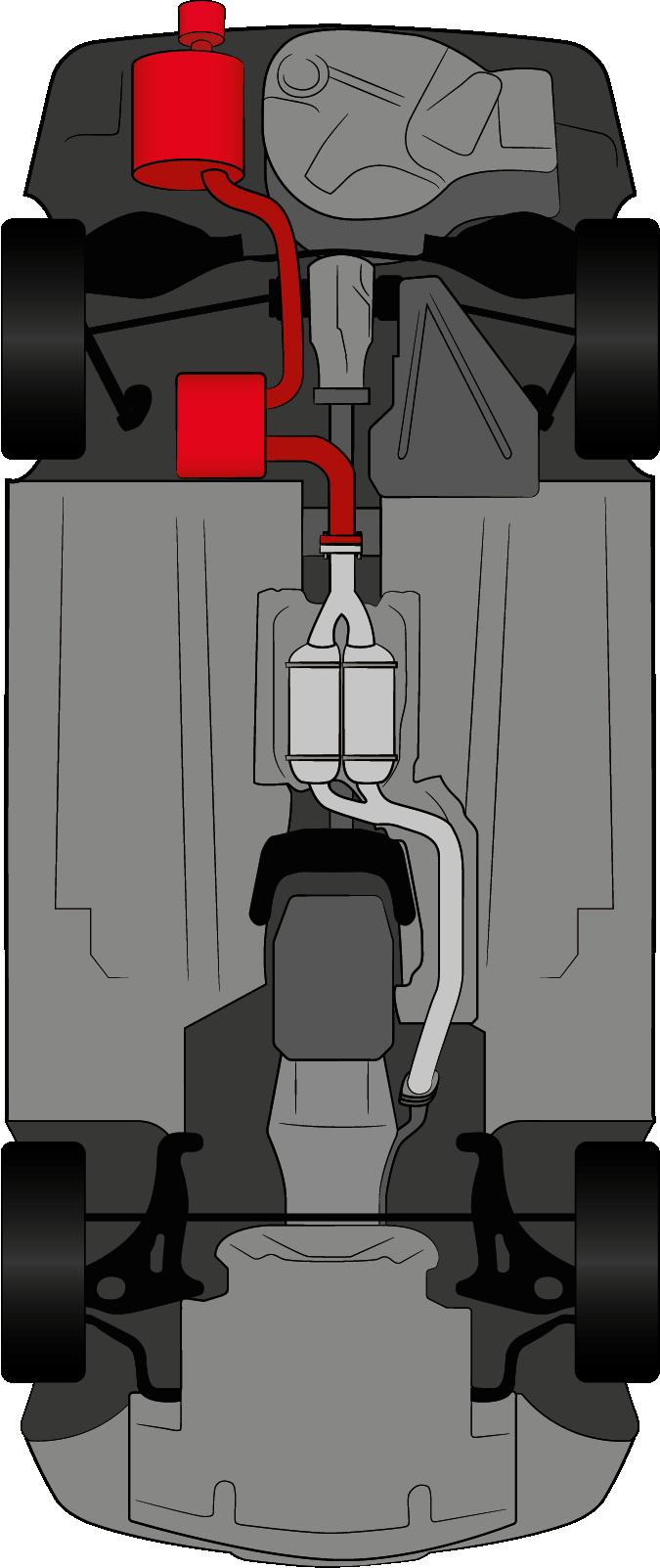 Spor Auspuff SLK170 4 Zylinder