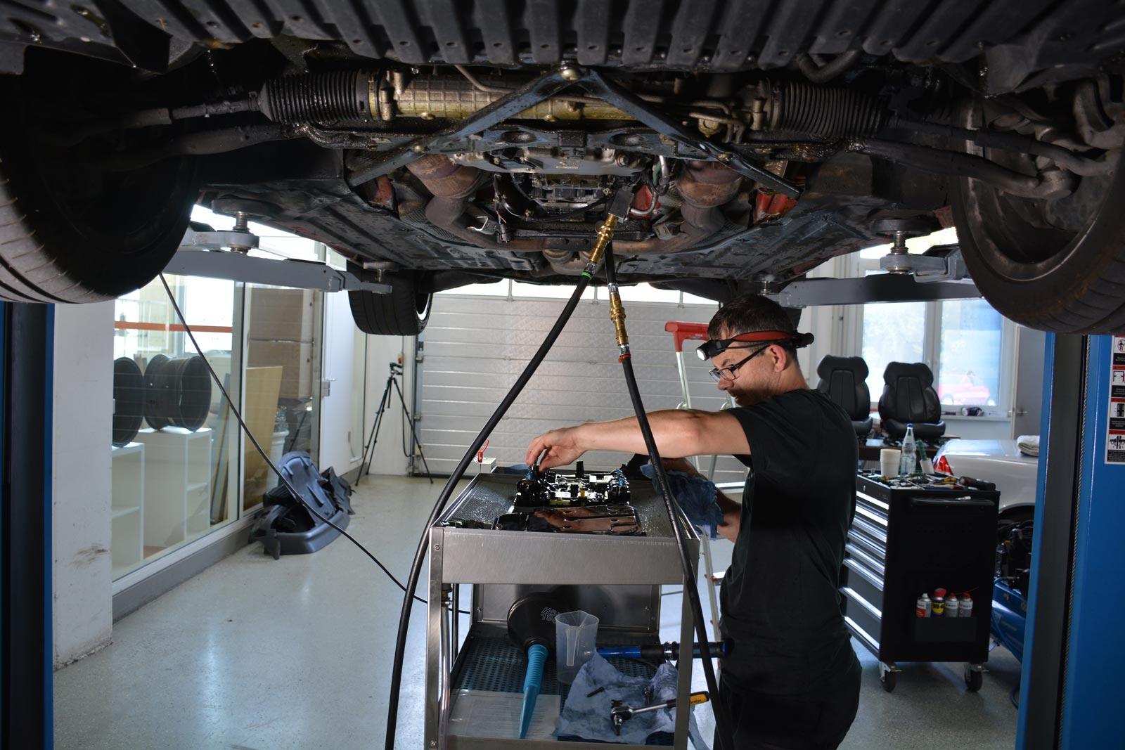 mercedes slk getriebespülung