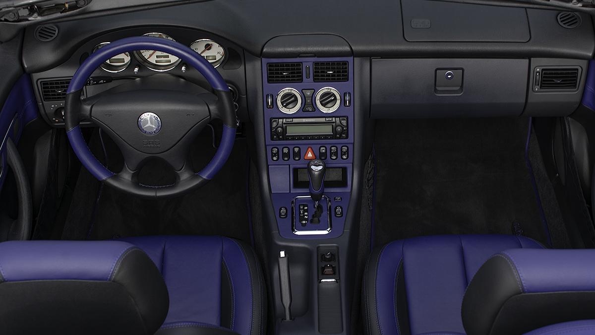 slk r170 blaue innenraum
